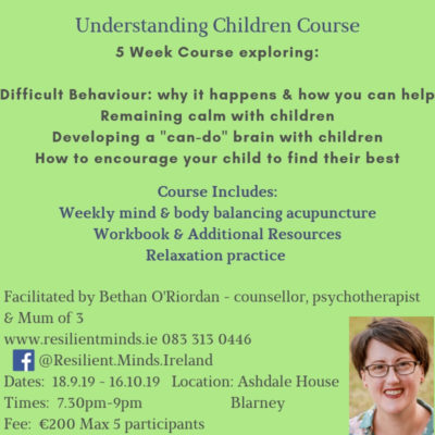 Understanding Children Course – evening time